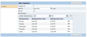 Public Access inspector schedule