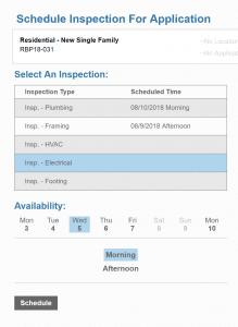 Public Access inspection schedule end user