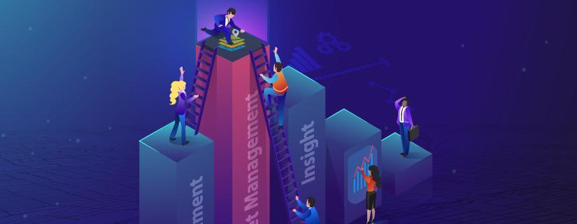 Illustration showing the organizational challenges of asset management