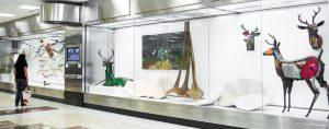 An art exhibit at Jackson-Hartfield International Airport in Atlanta, GA