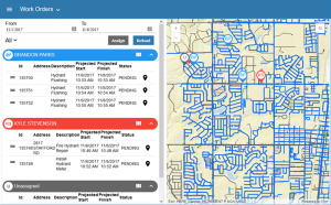 Screenshot of Cityworks Workload
