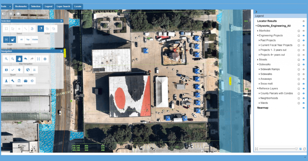 Aerial Imagery in Cityworks