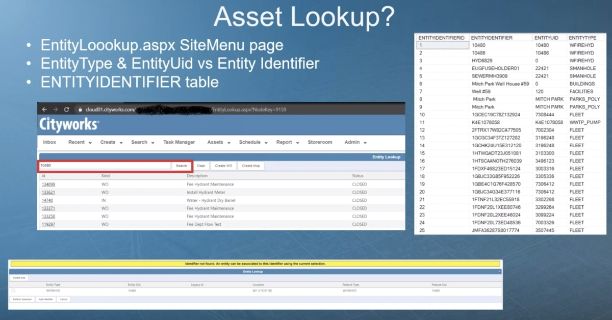 Asset Lookup and Barcode Reader Functionality in Cityworks Respond 3.1