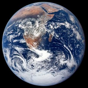 The iconic blue marble satellite image of earth