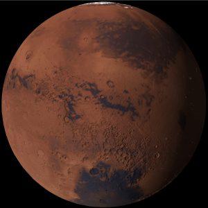 Satellite image of Mars