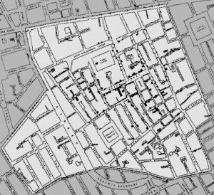 Picquet's Cholera outbreak map
