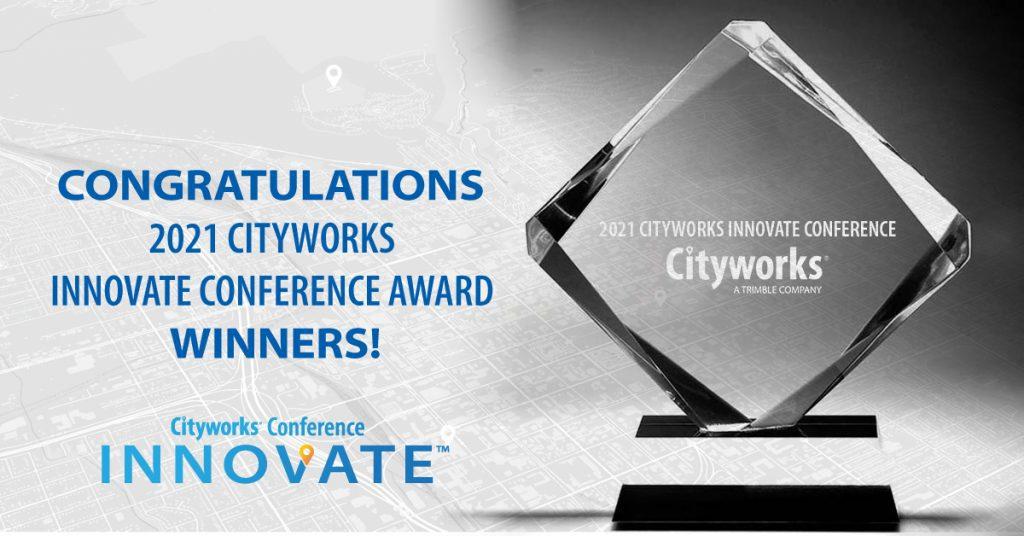 Trophy for Cityworks Innovate Award