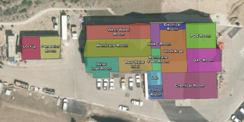 Aerial view of vertical asset